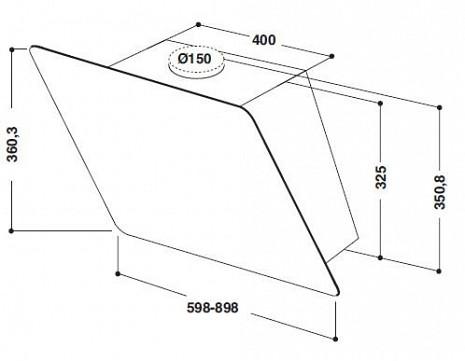 Tvaika nosūcējs  AKR038 G BL