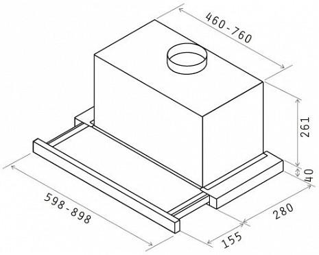 Tvaika nosūcējs  ELITE26 IX/A/60