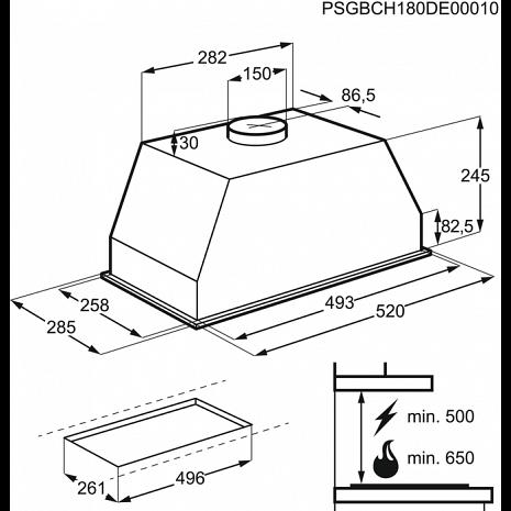 Tvaika nosūcējs  DGB2531M