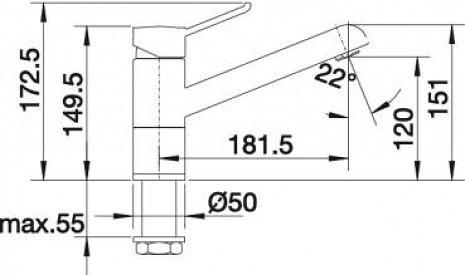 Izlietnes jaucējkrāns  B517801