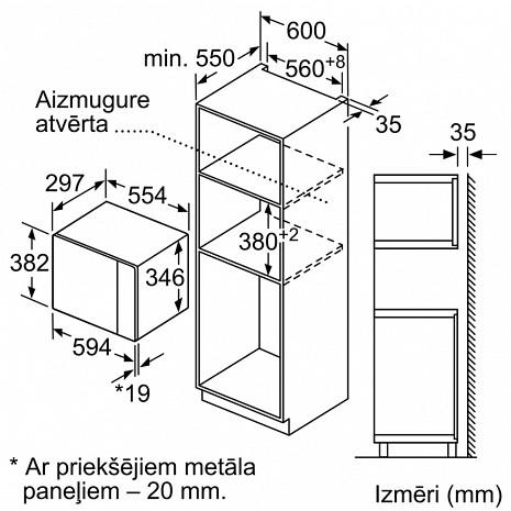 Mikroviļņu krāsns  BFL520MB0