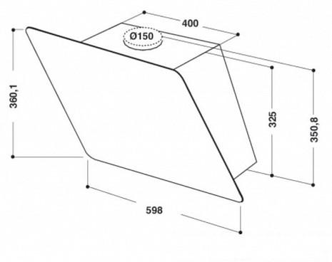 Tvaika nosūcējs  AKR 038 G BL