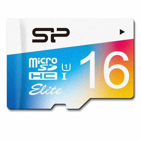 Atmiņas karte Silicon Power Elite UHS-1 Colorful 16GB,MicroSDHC,class10,SD adapter SP016GBSTHBU1V20SP