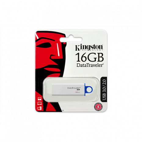 USB zibatmiņa DataTraveler I G4 16 GB, USB 3.0, White/Blue DTIG4/16GB