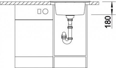Mākslīga granīta izlietne  B515673