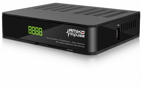 Virszemes televīzijas digitālais uztvērējs  Amiko Impulse T2/C