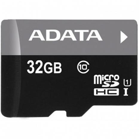 Atmiņas karte ADATA Premier UHS-I 32 GB, SDHC, Flash memory class 10, SD adapter AUSDH32GUICL10-RA1