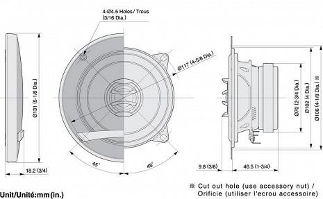 Auto akustika  TS-E1002I