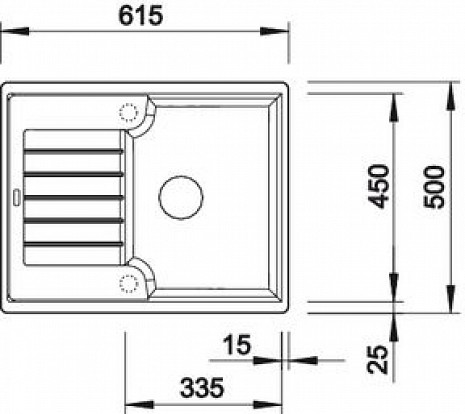 Mākslīga granīta izlietne  B518932