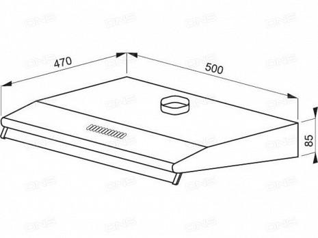 Tvaika nosūcējs  OSC5111BH