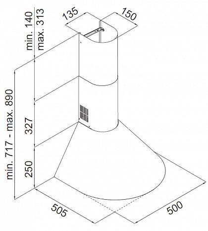 Tvaika nosūcējs  OKC5111MIH