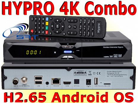 HD satelīta televīzijas un virszemes televīzijas uztvērējs  GI HYPRO 4K