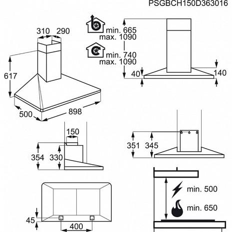 Tvaika nosūcējs  EFF90560OX