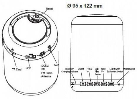Portatīvais skaļrunis  VT1043
