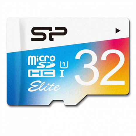Atmiņas karte Silicon Power Elite UHS-1 Colorful 32 GB, MicroSDHC, Flash memory class 10, SD adapter SP032GBSTHBU1V20SP