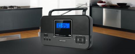 Stereo radio uztvērējs ar modinātāju M-087 R M-087R
