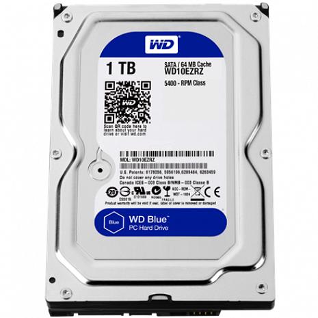 Cietais disks Blue WD10EZRZ 5400 RPM, 1000 GB WD10EZRZ