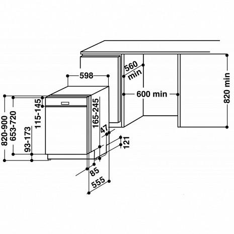 Trauku mazgājamā mašīna  WIO 3P23 PL