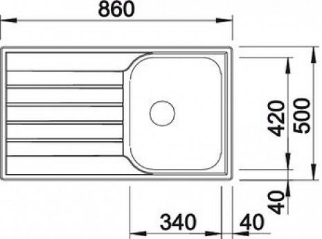 Nerūsējošā tērauda izlietne  B514786