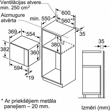 Mikroviļņu krāsns  BFL554MS0
