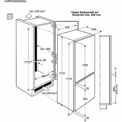 Ledusskapis  ENN2801BOW