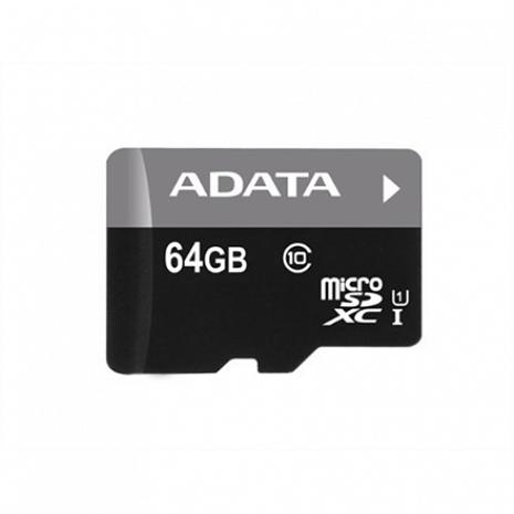Atmiņas karte ADATA Premier UHS-I 64 GB, MicroSDXC, Flash memory class 10, SD adapter AUSDX64GUICL10-RA1