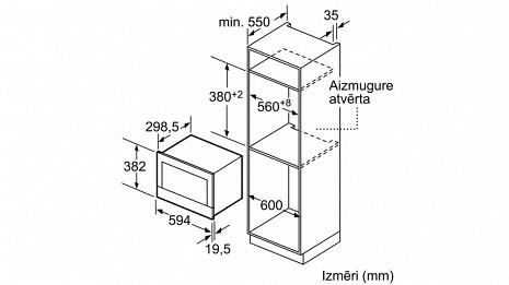 Mikroviļņu krāsns  BFL634GB1