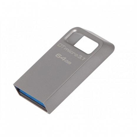 USB zibatmiņa DataTraveler Micro 3.1 64 GB, USB 3.1, Silver DTMC3/64GB