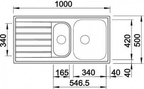 Nerūsējošā tērauda izlietne  B514796
