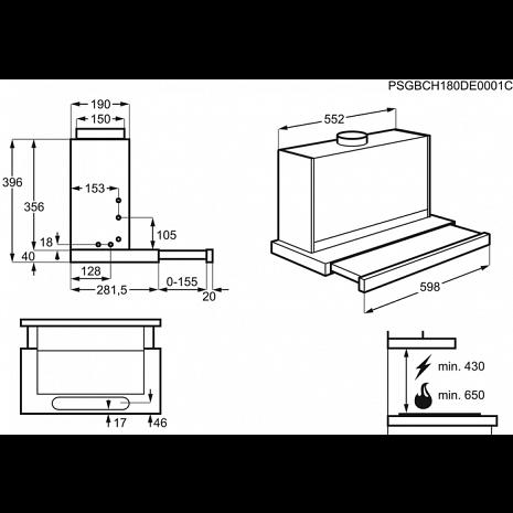 Tvaika nosūcējs  LFP226X