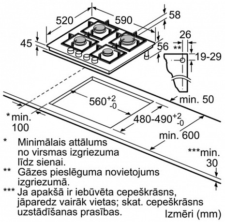 Plīts virsma  PPP6A6B20