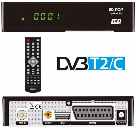 Virszemes televīzijas digitālais uztvērējs  ED Hybrid lite LED