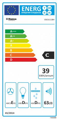 Tvaika nosūcējs  OSC6111BH