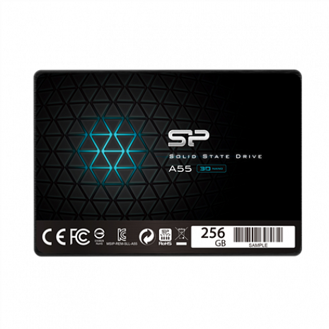 "SSD disks A55 256 GB, SSD form factor 2.5"", SSD interface SATA SP256GBSS3A55S25"