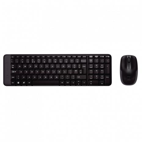 Klaviatūra MK220 Wireless Keyboard And Mouse, Keyboard layout EN/RU, Black 920-003169