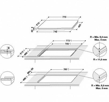Plīts virsma  SMC774F/BT/IXL