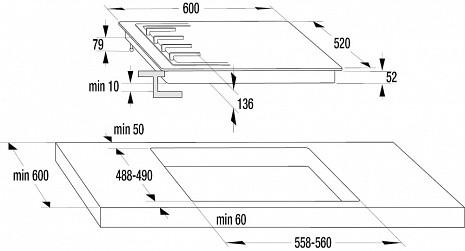 Plīts virsma  G641MB