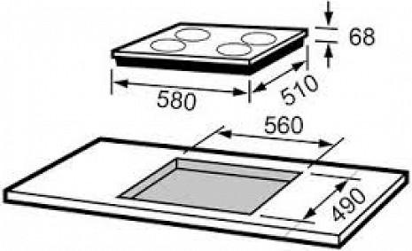 Plīts virsma  I3D64S