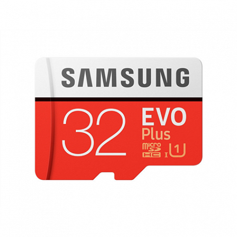 Atmiņas karte Samsung EVO PLUS UHS-I 32 GB, MicroSDHC, Flash memory class 10, SD adapter MB-MC32GA/EU
