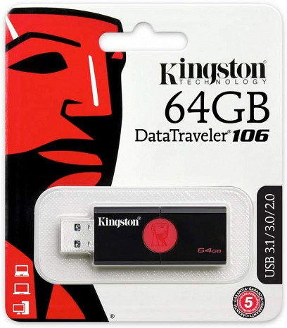 USB zibatmiņa 64GB USB3 Flash Drive Memory DT106/64GB