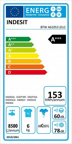 Veļas mašīna  BTW A61053 EU