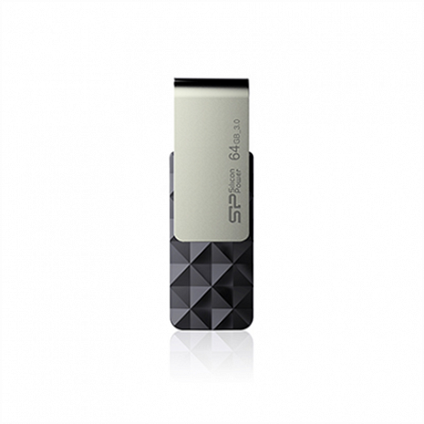USB zibatmiņa Silicon Power Blaze B30 64 GB, USB 3.0, Black SP064GBUF3B30V1K