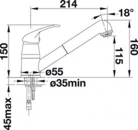 Izlietnes jaucējkrāns  B517733