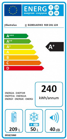 Ledusskapis  EJ2801AOW2