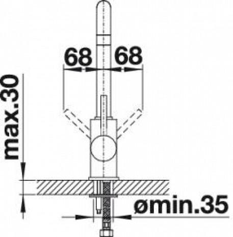 Izlietnes jaucējkrāns  B519413