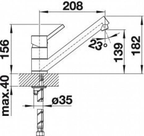 Izlietnes jaucējkrāns  B515337