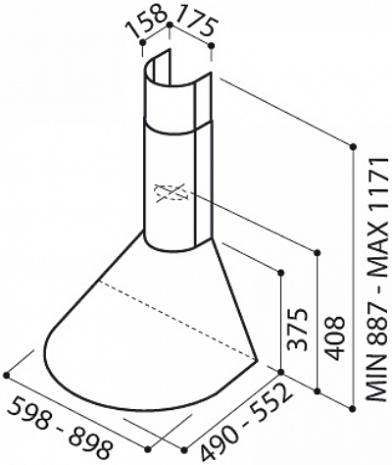 Tvaika nosūcējs  Tonda IX/F/60