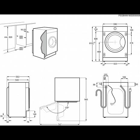 Veļas mašīna  EW7F348SI
