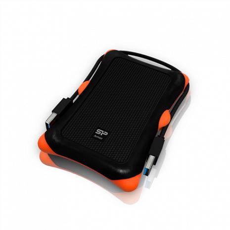 """Cietais disks Armor A30 1TB 2.5 """", USB 3.1, Black SP010TBPHDA30S3K"""