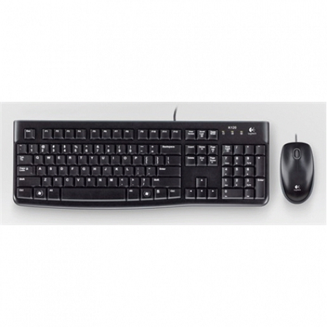 Klaviatūra MK120-US Keyboard and Mouse, Keyboard layout QWERTY, USB Port, Black 920-002563